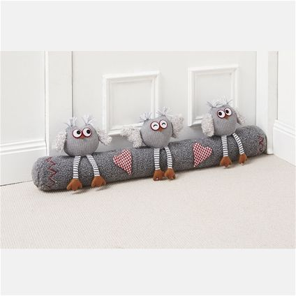 Cute Draft Excluder - hand-crafted owls