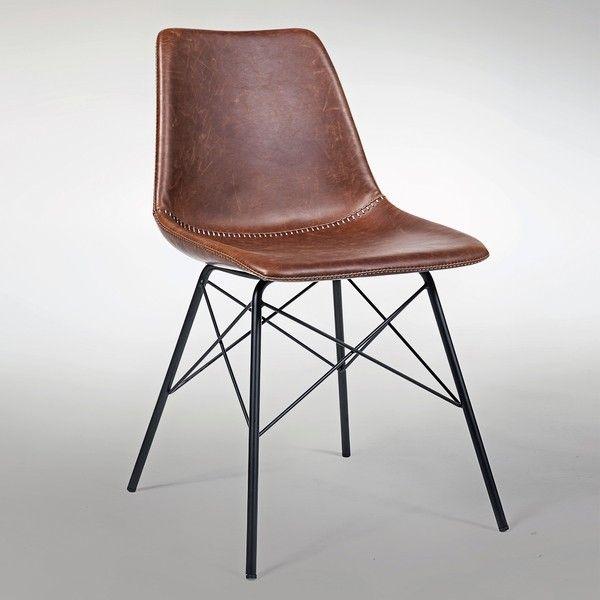 Industrial Lederstuhl Pro A #lederstuhl #esszimmerstuhl #industrial #design  #retro #vintage