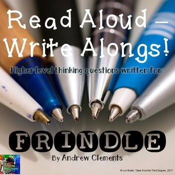 This is the latest in a new series that I've created, called READ ALOUD-WRITE ALONGS! I have written interactive, higher level thinking questions aligned with the common core to go with each chapter of popular classroom read alouds. These tri-folds will help to keep your