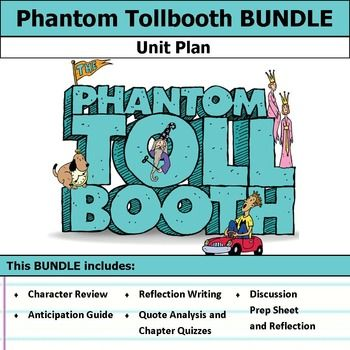 This bundle includes , film essay, activities, chapter quizzes, and discussions. This bundle has everything you need to get started teaching The Phantom Tollbooth in an engaging way!