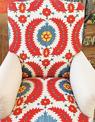 folk suzani chair