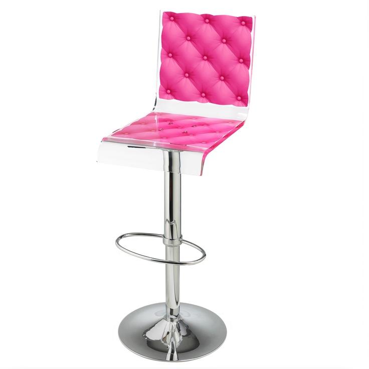 Bar Stool Capiton Pink The taste 4 Acrylic bar