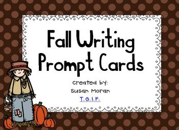 Fall Writing Prompt Cards {Freebie}!!: Cards Freebie, Writing Center, Cards Writing, Prompt Cards, Writing Prompts, Writing Ideas, Education