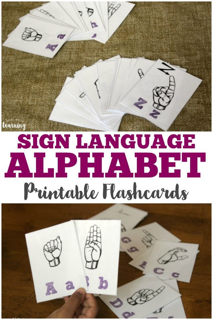 Time to include some sign language alphabet flashcards in our series! Click over and grab a free set of ASL Alphabet flashcards!