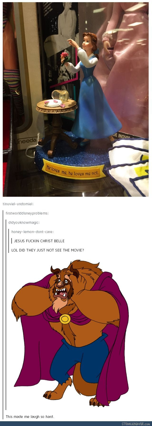 What are you doing Belle? - Funny tumblr post http://ibeebz.com