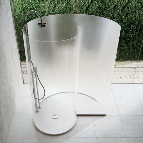 snail shower  #shower  #doorless shower: Shower Ideas, Shower Design, Outdoor Shower, Glasses Shower, Cool Shower, Bathroom Interiors Design, Architecture Home Design, Shower Stalls, Contemporary Bathroom