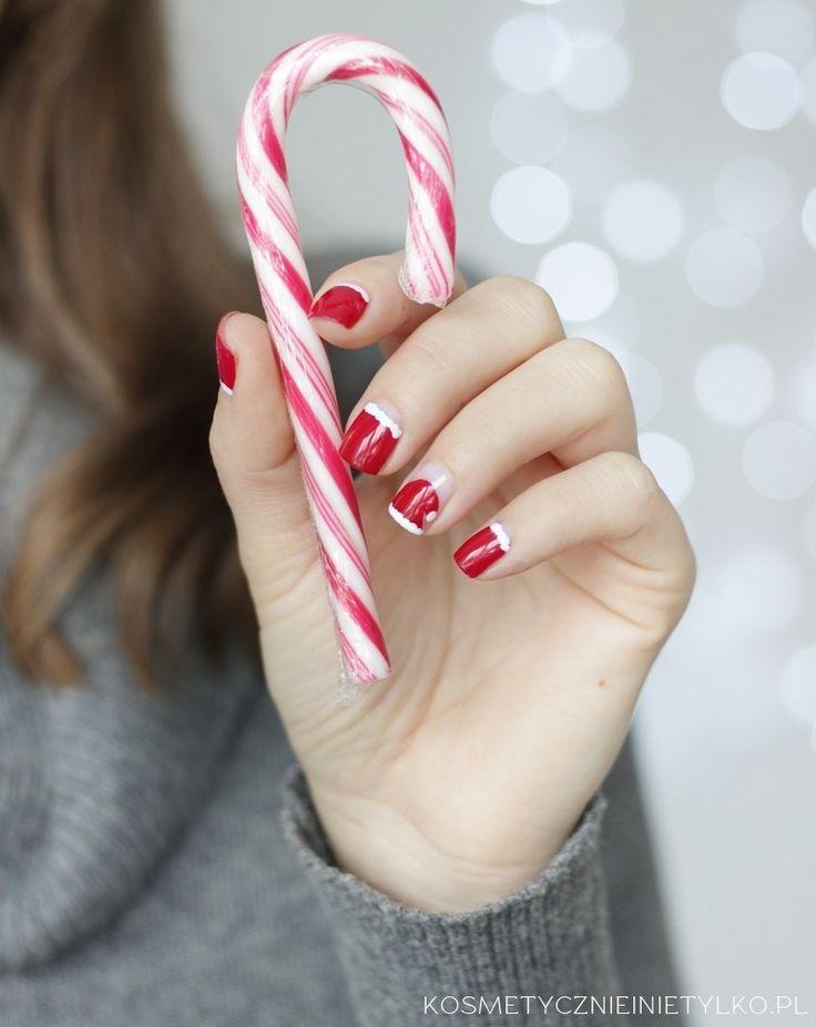 Łatwe zdobienie paznokci na mikołaji i święta