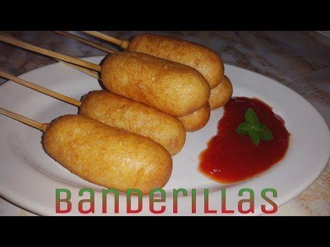 RECETA: BANDERILLAS DE SALCHICHAS(CORN DOGS) súper fácil de hacer - YouTube