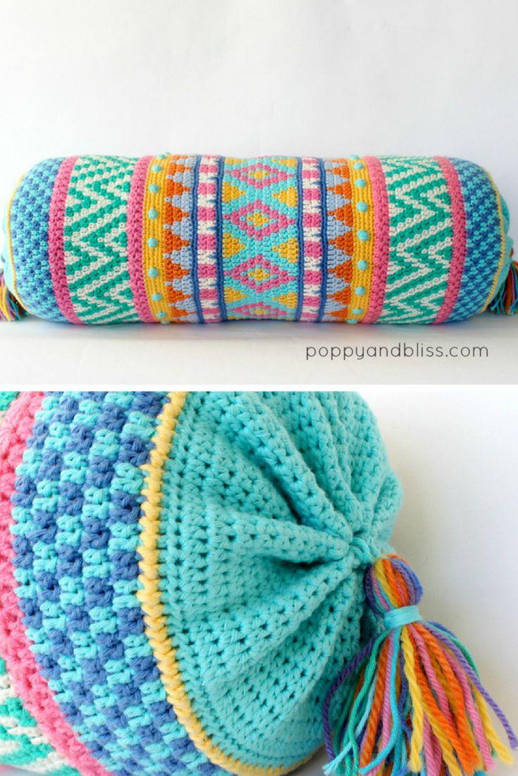 Vivo Bolster Cushion Crochet Pattern