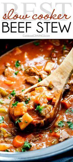 Slow Cooker Beef Stew by Carlsbad Cravings