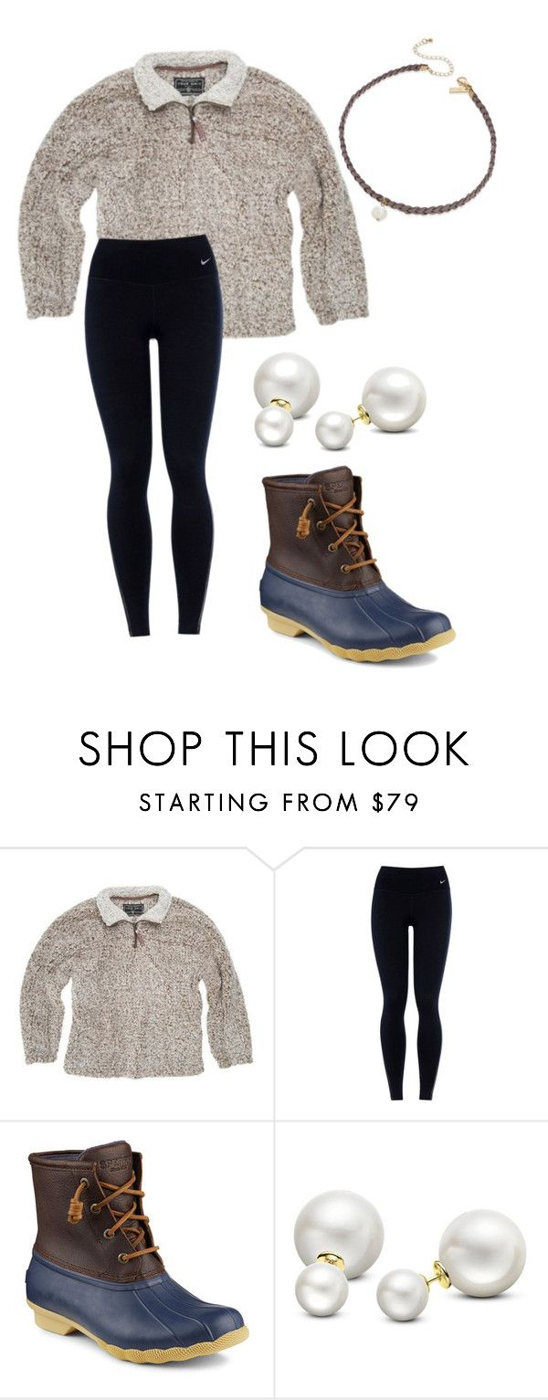 """Love this pullover"" by southernandpreppygirl ❤ liked on Polyvore featuring True Grit, NIKE, Sperry, Allurez and INC International Concepts"