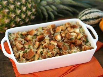 PINEAPPLE STUFFING WITH ORANGE ZESTKing's Hawaiian Recipes.