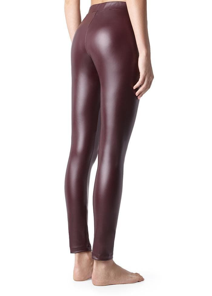 CALZEDONIA Womens Thermal Leather-Effect Leggings