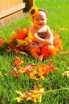 Fall Tutu Outfit Autumn Tutu by Bowsbaublesandbeads on Etsy
