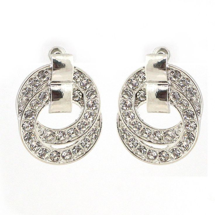 Pave Set Infinity Earrings