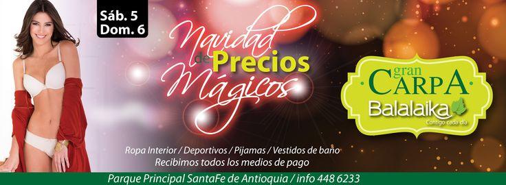 Este fin de semana estaremos en Santa fe de Antioquia con La Carpa Balalaika.  Te esperamos!!!
