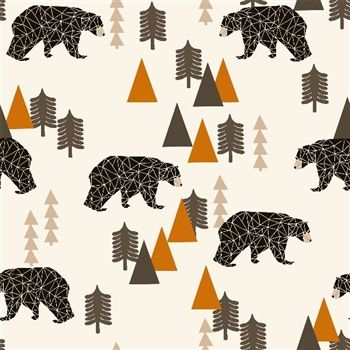 Sweat Camping Bear ours rouille 20 x 160 cm