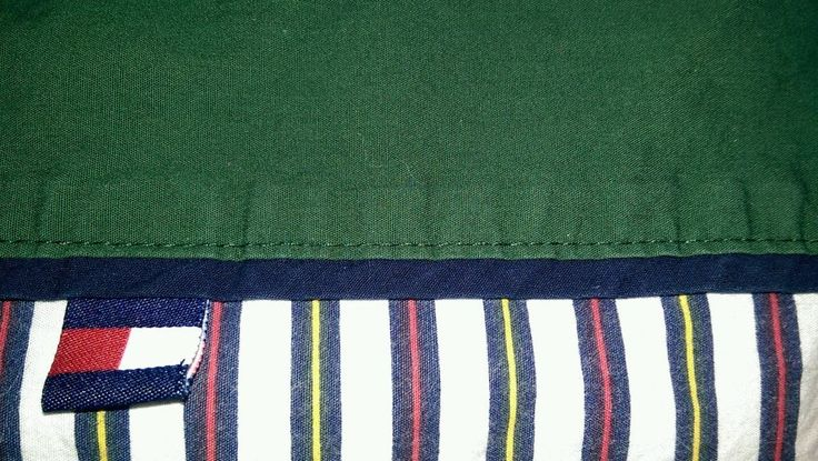 Tommy Hilfiger Prep School Stripe Twin Flat Sheet 100% Cotton Wh/Rd/Na/Gr #TommyHilfiger #Contemporary
