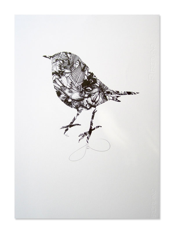 Robin Jumble Screen Print: Flox  I have this in gold...
