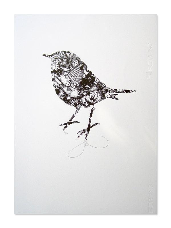 Robin Jumble Screen Print: Flox
