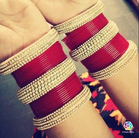 Bridal Chuda... For Orders visit https://www.facebook.com/Sravanthi.d207/?ref=aymt_homepage_panel