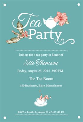 bridal shower tea party printable invitation template customize add text and photos print. Black Bedroom Furniture Sets. Home Design Ideas