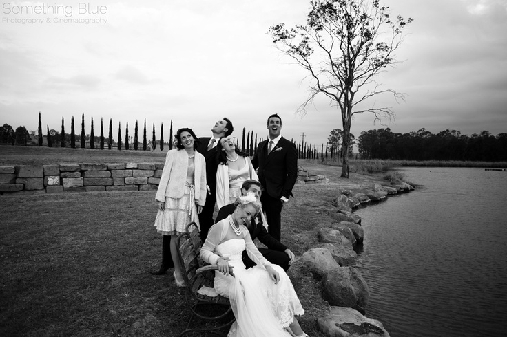 Bridal party having fun :) Hunter Valley wedding photography. www.somethingbluephotography.com.au
