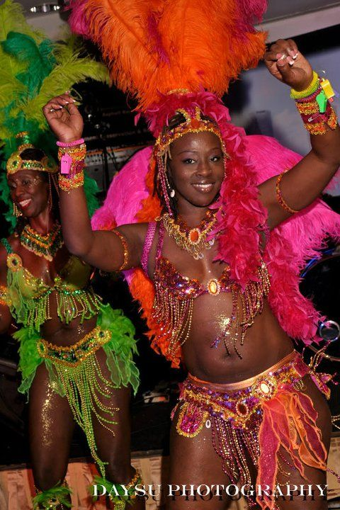 Carnival Dancer girls, perfect for party hosting, photo ops or a special dance performance at your Caribbean Themed event or any event. Book @ www.rythmtrail.com