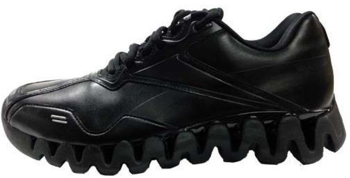 reebok shoes black referee cartoon