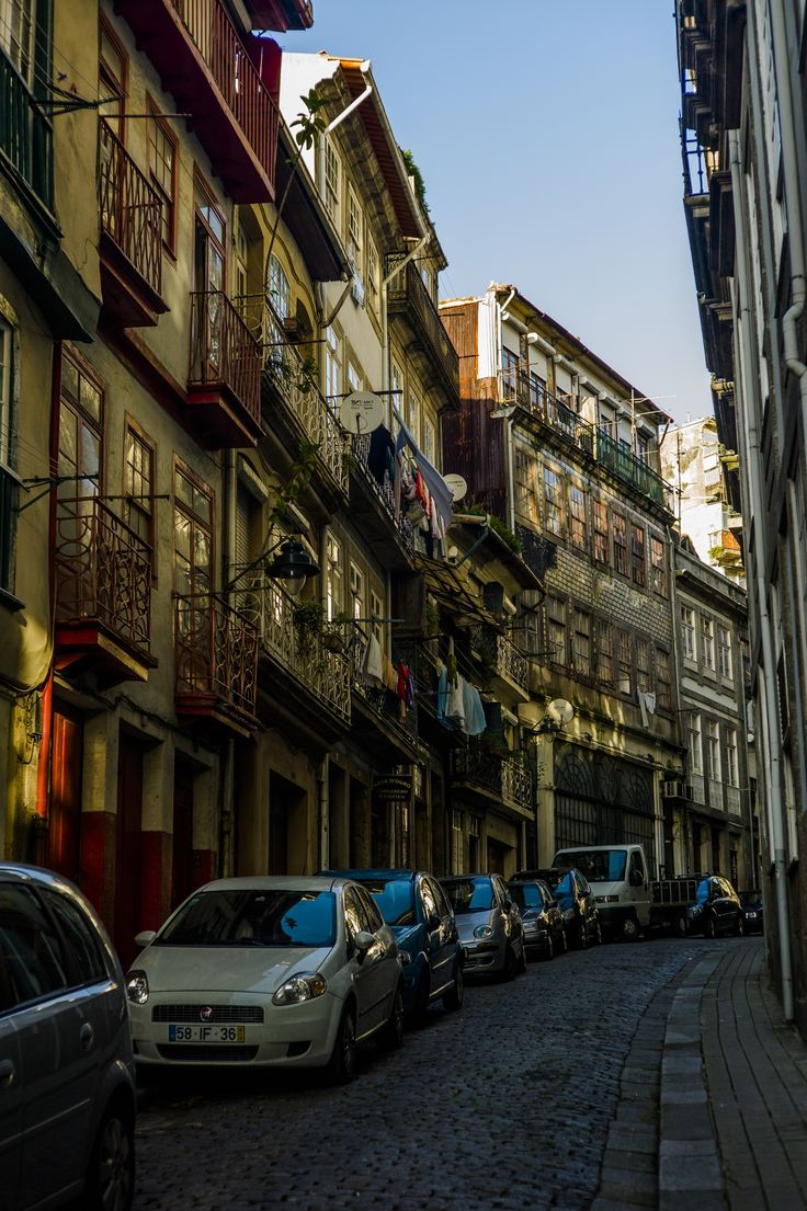 Colours of Porto by dkmaorusamuk -a typical alley in the Porto historical town..Portugal