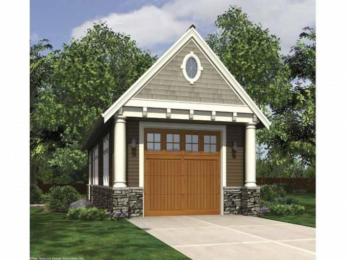 Garage plans backyard studios outbuildings garages for Menards apartment garage plans