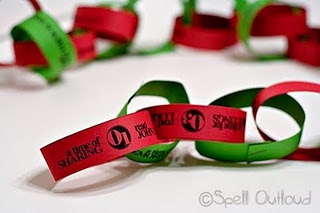 Advent paper chain where each piece of paper has a scripture and family devotion theme - what a great way to keep the real meaning of Christmas during the month of December!
