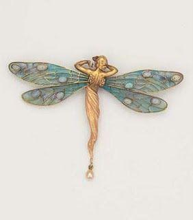 Art Nouveau Dragonfly.
