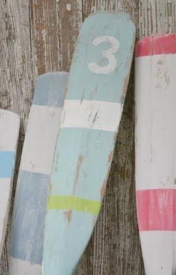 Vintage oars