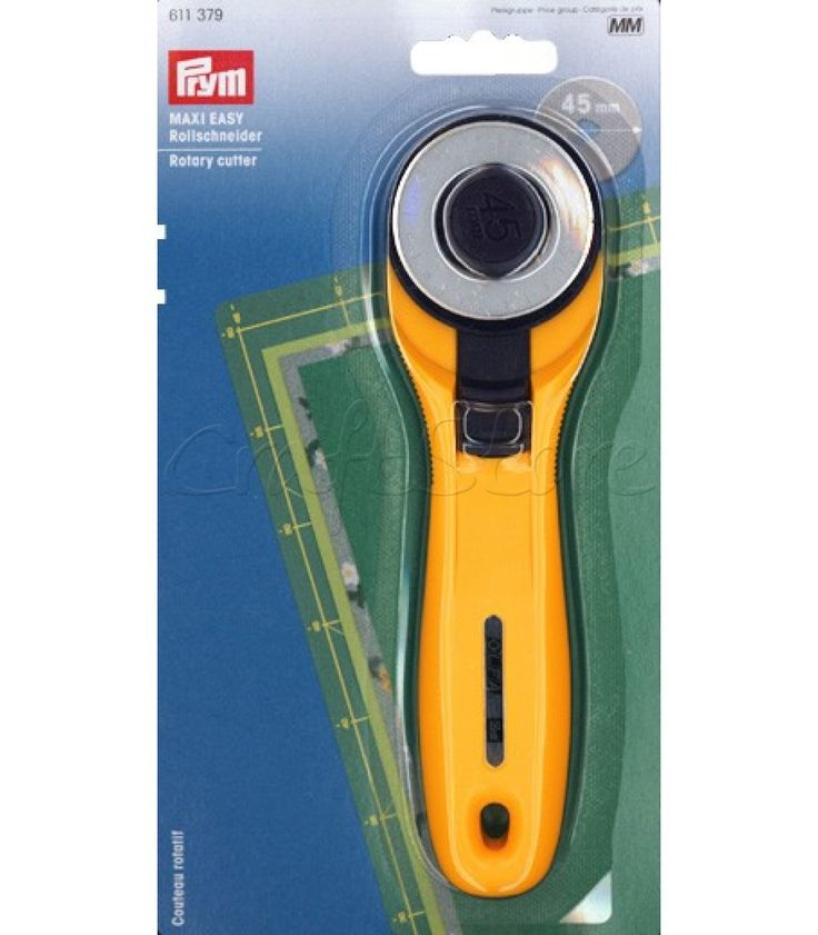 Κόπτης υφασμάτων MAXI EASY Rollschneider. Περιστροφικός χειροκίνητος κόπτης για την εύκολη και γρήγορη κοπή υφασμάτων. Μέγεθος Δίσκου: 45mm