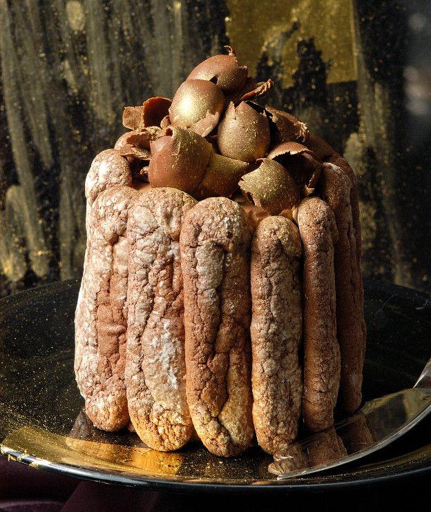 Σαρλότ σοκολάτας με ρούμι - Στέλιος Παρλιάρος