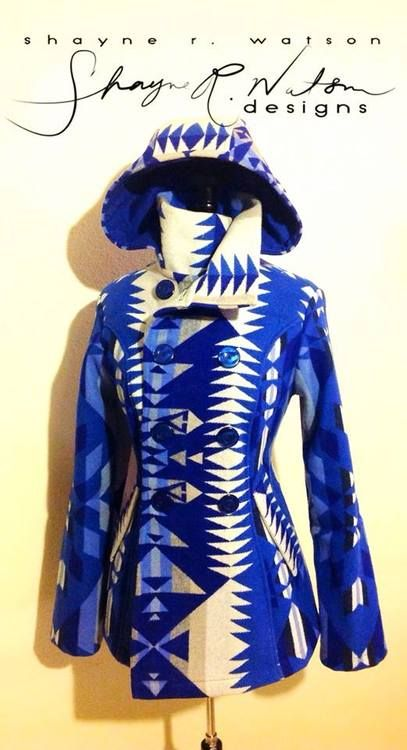 Shane Watson Designs (facebook.com/shayne-watson-designs) this is the most beautiful coat.