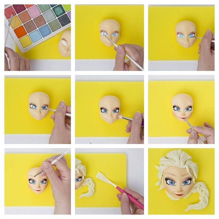 tutorial pasta di zucchero : bambola  #tutorial