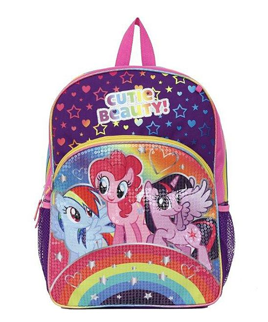 My Little Pony Rainbows Sequins Backpack
