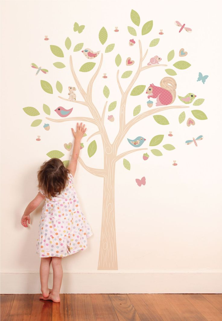 Woodland tree woodland wall stickers wall stickers wall decor tinyme com one bedroomkid