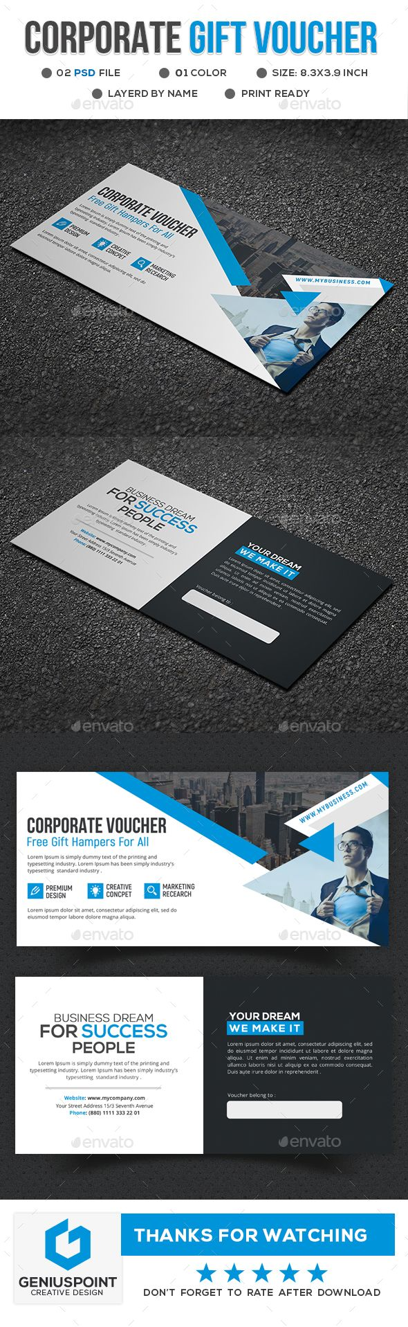 395 best gift voucher templates images on pinterest corporate gift voucher template psd yelopaper Images
