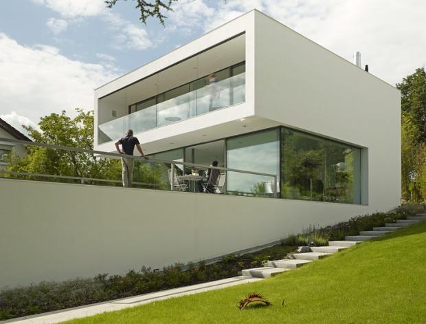 geometrische architektur - Geometrische Formen Farben Modernes Haus