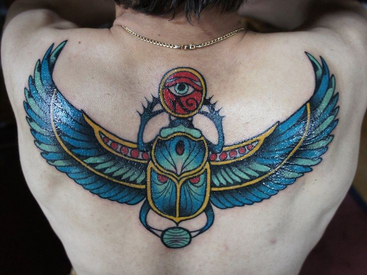 Winged scarab by on deviantart for Scarab tattoo designs