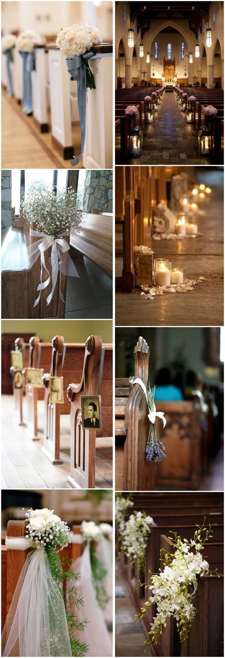 Wedding Decorations » 21 Stunning Church Wedding Aisle Decoration Ideas to Steal » ❤️ See more: