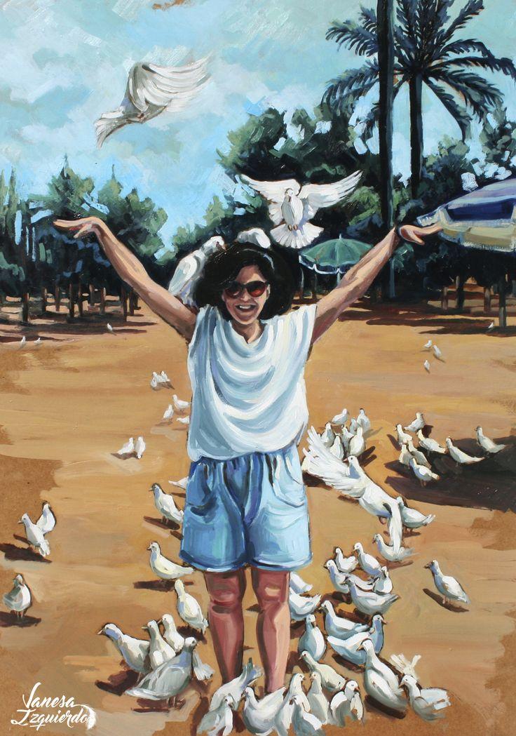 #fly #freedom #oil #birds #summer #vanesaizquierdo