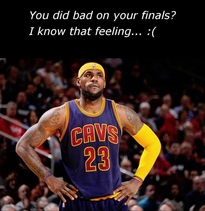 Lebron James knows what it feels like doing bad in the finals :(  Calculate your finals grade at gc.mes.fm