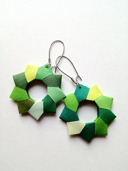 Paper Origami Earring by Rachel Smith (from Hong Kong)…