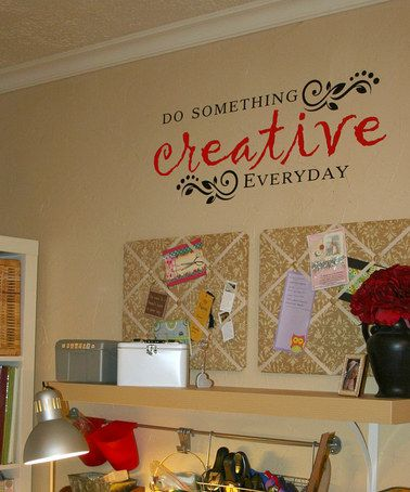 would like to get the wall lettering for my craft area.  (original pin could not be found)