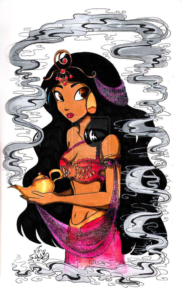 such a beautiful drawing of Jasmine