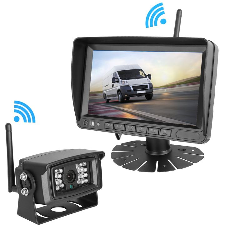 LeeKooLuu Digital Wireless Built-in Backup Camera and 7'' Monitor Kit Working Distance Over 160FT No Interference Waterproof for Trailer/RV/Trucks/Motorhome/Boat